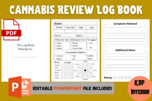 Print on Demand: Cannabis Review Log Book | KDP Interior Grafik KPD Innenseiten von Cool Worker