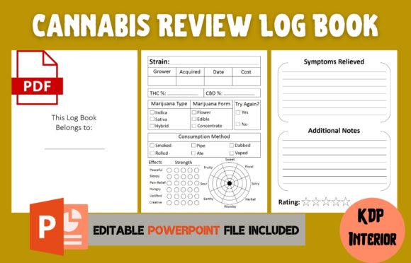 Print on Demand: Cannabis Review Log Book | KDP Interior Graphic KDP Interiors By Cool Worker