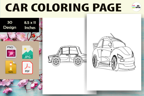 Print on Demand: Car Coloring Page 3 - KDP Graphic Coloring Pages & Books Kids By Sei Ripan