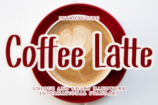 Print on Demand: Coffee Latte Display Font By giartstudios