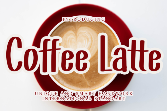Print on Demand: Coffee Latte Display Font By dazzlinggleam