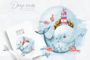 Print on Demand: Cute Whale - Baby Shower Clipart Graphic Illustrations By Tiana Geo