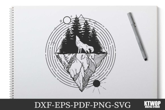 Print on Demand: Explorer Nature Animals Serie WOLF Graphic Crafts By KtwoP