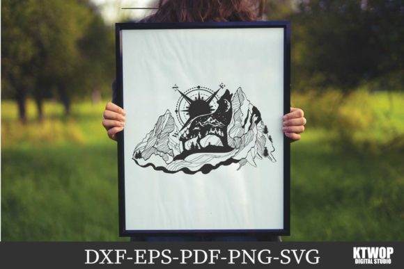 Print on Demand: Explorer Nature Animals Serie WOLF No.3 Graphic Crafts By KtwoP