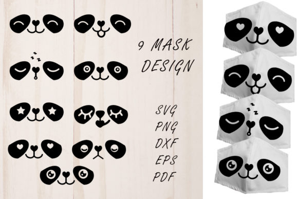 Print on Demand: Face Mask Designs SVG. Sloth Faces. Graphic Illustrations By vitaminka26