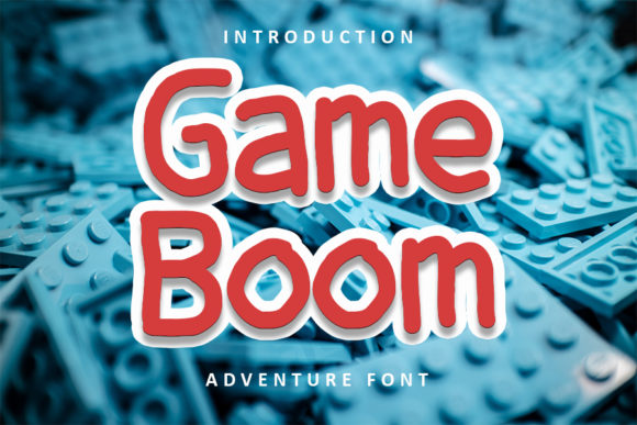 Print on Demand: Game Boom Display Font By FL Space