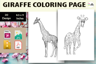Print on Demand: Giraffe Coloring Page 2 - KDP Graphic Coloring Pages & Books Kids By Sei Ripan