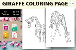 Print on Demand: Giraffe Coloring Page - KDP Graphic Coloring Pages & Books Kids By Sei Ripan 1
