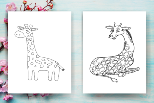 Print on Demand: Giraffe Coloring Page - KDP Graphic Coloring Pages & Books Kids By Sei Ripan 2
