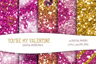 Print on Demand: Glitter Printable Digital Paper Pack. Graphic Illustrations By Tiana Geo