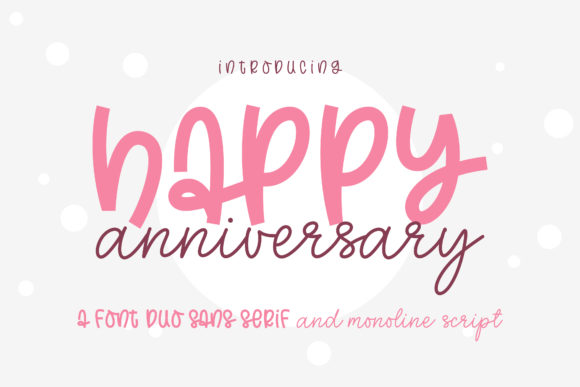 Print on Demand: Happy Anniversary Script & Handwritten Font By BitongType