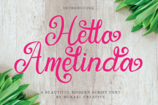 Print on Demand: Hello Amelinda Script & Handwritten Font By Muksal Creative