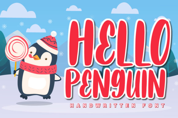 Print on Demand: Hello Penguin Display Font By FatmaStudio