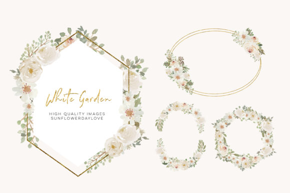 Print on Demand: Ivory Flowers Arrangement Clipart Graphic Illustrations By SunflowerLove