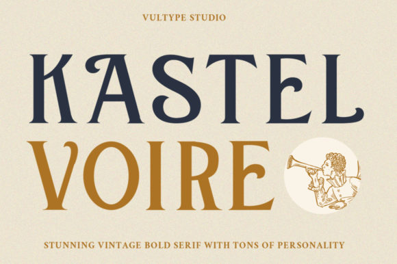 Print on Demand: Kastel Voire Serif Font By vultype