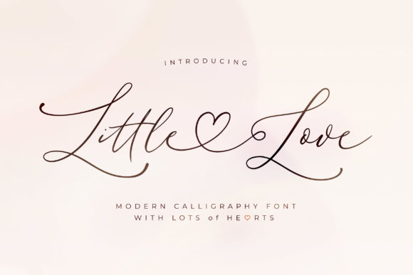 Print on Demand: Little Love Manuscrita Fuente Por Blessed Print