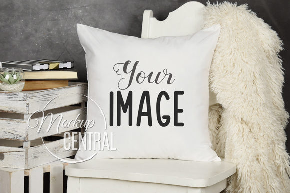 Living Room Chair Mockup Pillow Graphic Product Mockups By Mockup Central
