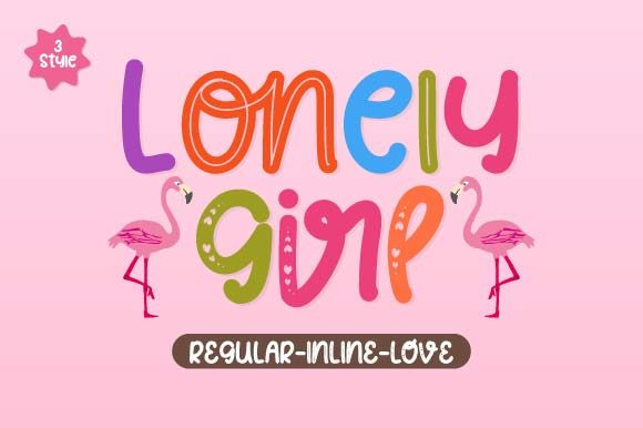 Print on Demand: Lonely Girl Script & Handwritten Font By Prioritype