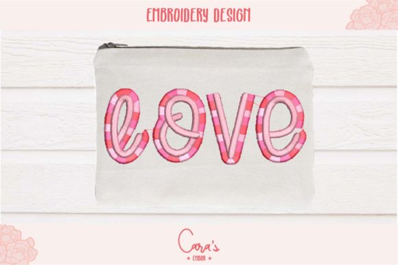 Love Fringes Valentine's Day Embroidery Design By carasembor