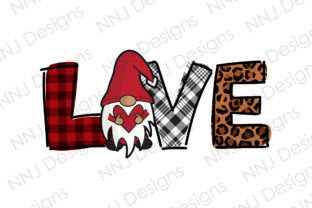Print on Demand: Love Gnome Sublimation Valentine's Day Graphic Illustrations By NNJ Designs