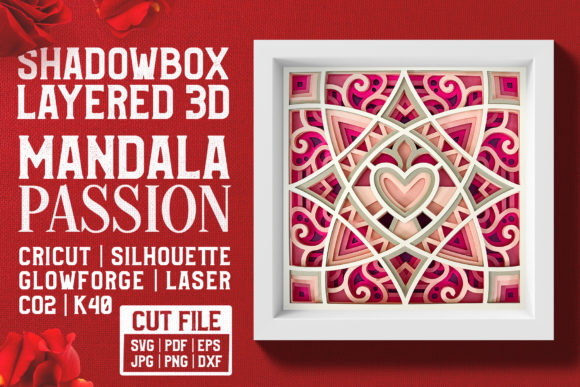 Mandala Passion 3D Layered SVG Cut File Graphic Crafts By pixaroma