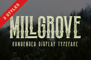 Print on Demand: Millgrove Blackletter Font By letterhend