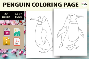 Print on Demand: Penguin Coloring Page 3 - KDP Graphic Coloring Pages & Books Kids By Sei Ripan