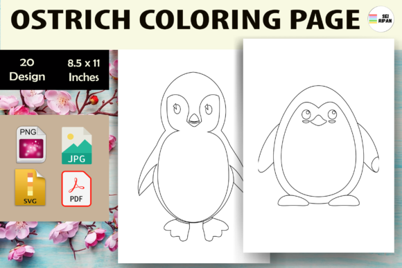 Print on Demand: Penguin Coloring Page - KDP Graphic Coloring Pages & Books Kids By Sei Ripan