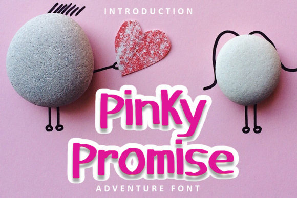 Print on Demand: Pinky Promise Display Schriftarten von FL Space