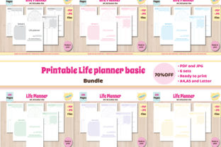 Print on Demand: Printable Planner Template A5 Bundle Graphic Print Templates By mascute.arte
