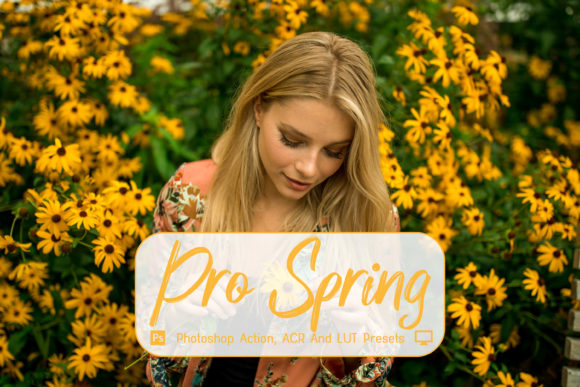 Print on Demand: Pro Spring Photoshop Actions, ACR, LUTs Graphic Actions & Presets By 3Motional