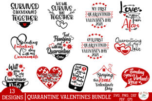 Quarantine Valentines Day Quotes Bundle Graphic Crafts By redearth and gumtrees