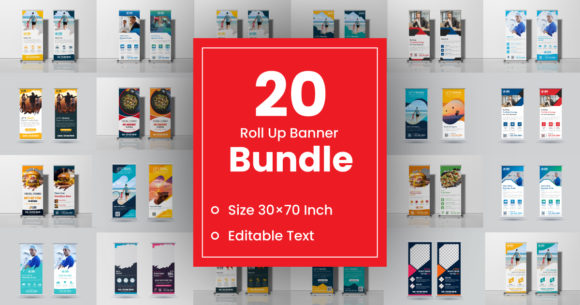 Roll Up Banner Bundle  By GraphicHut