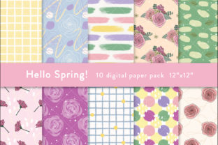 Print on Demand: Seamless Spring Digital Paper Pattern Graphic Patterns By SincerelyNix