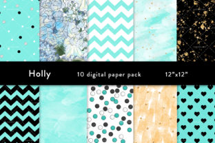 Spring Clipart, Digital Paper, Teal Graphic Patterns By SincerelyNix