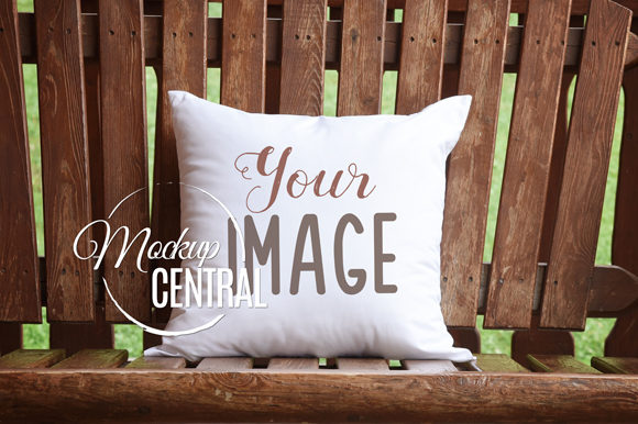 Square Rustic Mockup Country Pillow JPG Graphic Product Mockups By Mockup Central