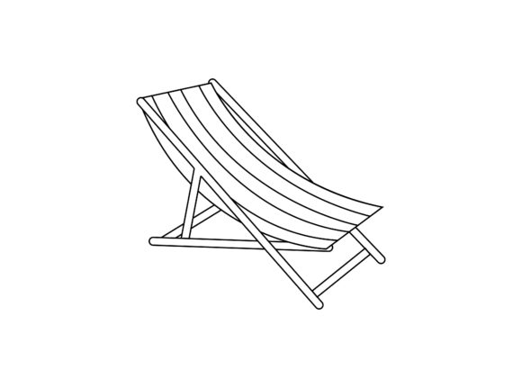 Sun Lounger Outline Icon Graphic Illustrations By printablesplazza