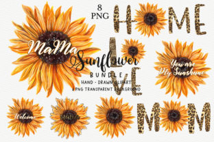 Print on Demand: Sunflower Sublimation Designs Bundle Graphic Crafts By Chonnieartwork