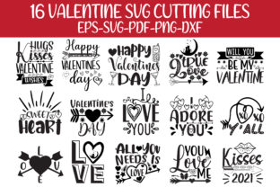 Print on Demand: Valentine Day Svg Cutting Files Grafik Plotterdateien von Design Store Bd.Net