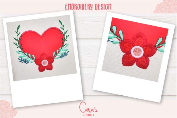 Valentines Heart Aplique Embroidery Item