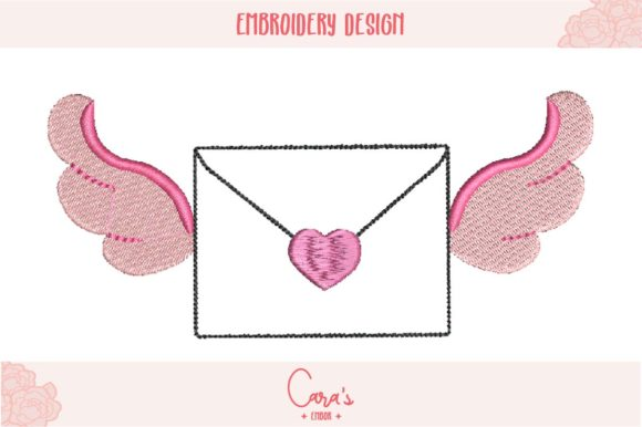 Winged Envelope Aplique Embroidery Download