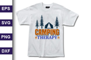 Print on Demand: Adventure Svg Design, Camping Therapy Graphic Print Templates By MR_Graphics