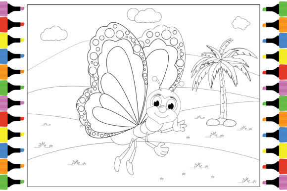 Print on Demand: Coloring Cute Animal Cartoon for Kids Graphic Coloring Pages & Books By curutdesign