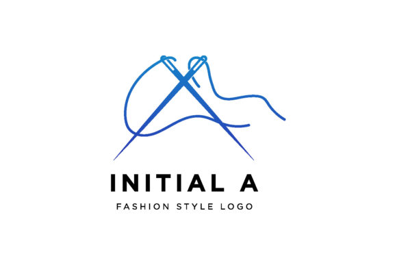 Print on Demand: Initial a Needle Tailor Logo Design Graphic Logos By vectoryzen