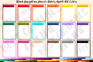 100 Flag Full Box Printable Planner Stic Graphic Print Templates By bestgraphicsonline