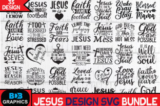Print on Demand: 35 Jesus Quotes SVG Bundle Graphic Graphic Templates By BDB_Graphics