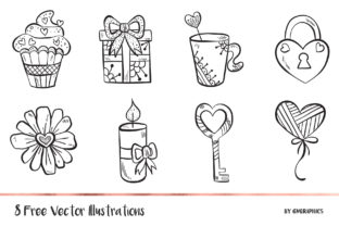 8 Valentine's Day Elements Illustrations Graphic Illustrations By GVGraphics