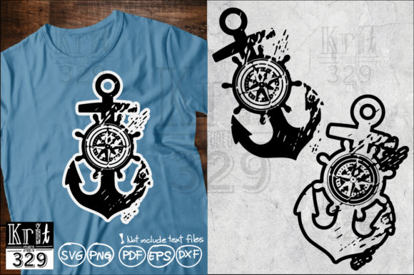 ANCHOR COMPASS SVG Graphic Crafts By Krit-Studio329