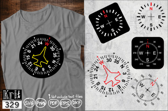 Air Fighter Compass SVG Graphic Crafts By Krit-Studio329