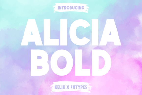 Print on Demand: Alicia Sans Serif Font By Kelik - 7NTypes